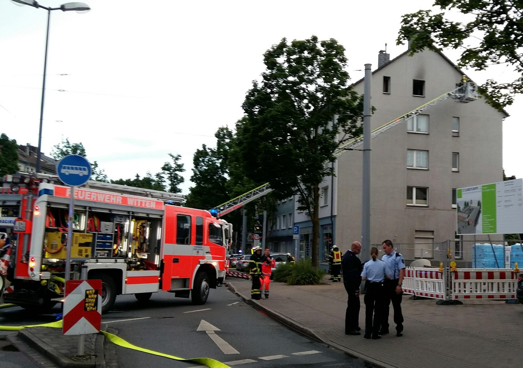 Wohnungsbrand an der Hauptstraße (Foto: OTS)
