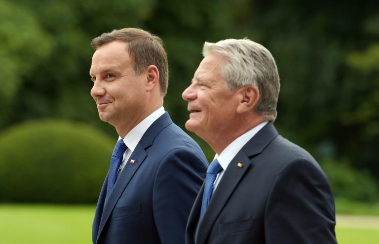 Gauck empfängt polnischen Staatschef Duda (© 2016 AFP)