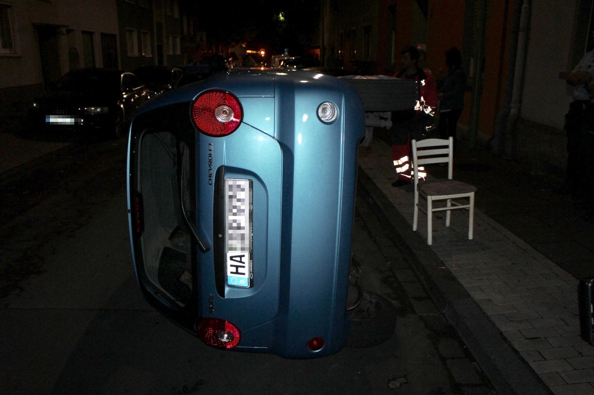 Auto umgekippt (Foto: OTS)
