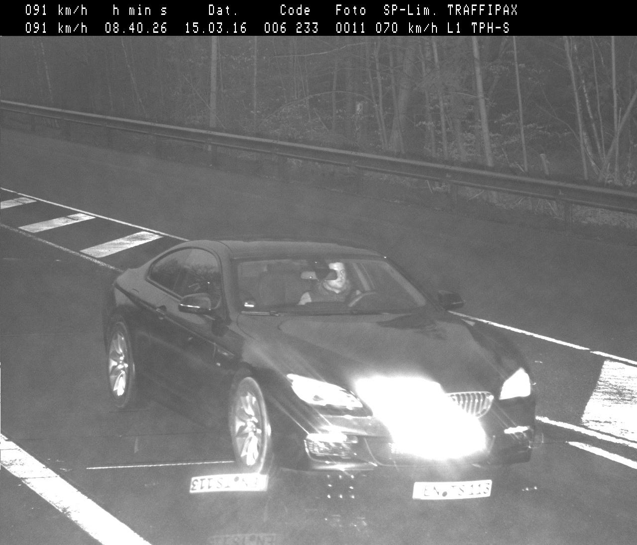Mit gestohlenem Fahrzeug geblitzt (Foto: OTS)