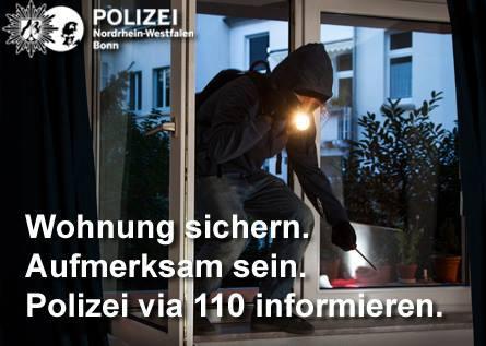 Vorsicht Einbrecher! Unbekannte brechen nachts ... (Foto: OTS)