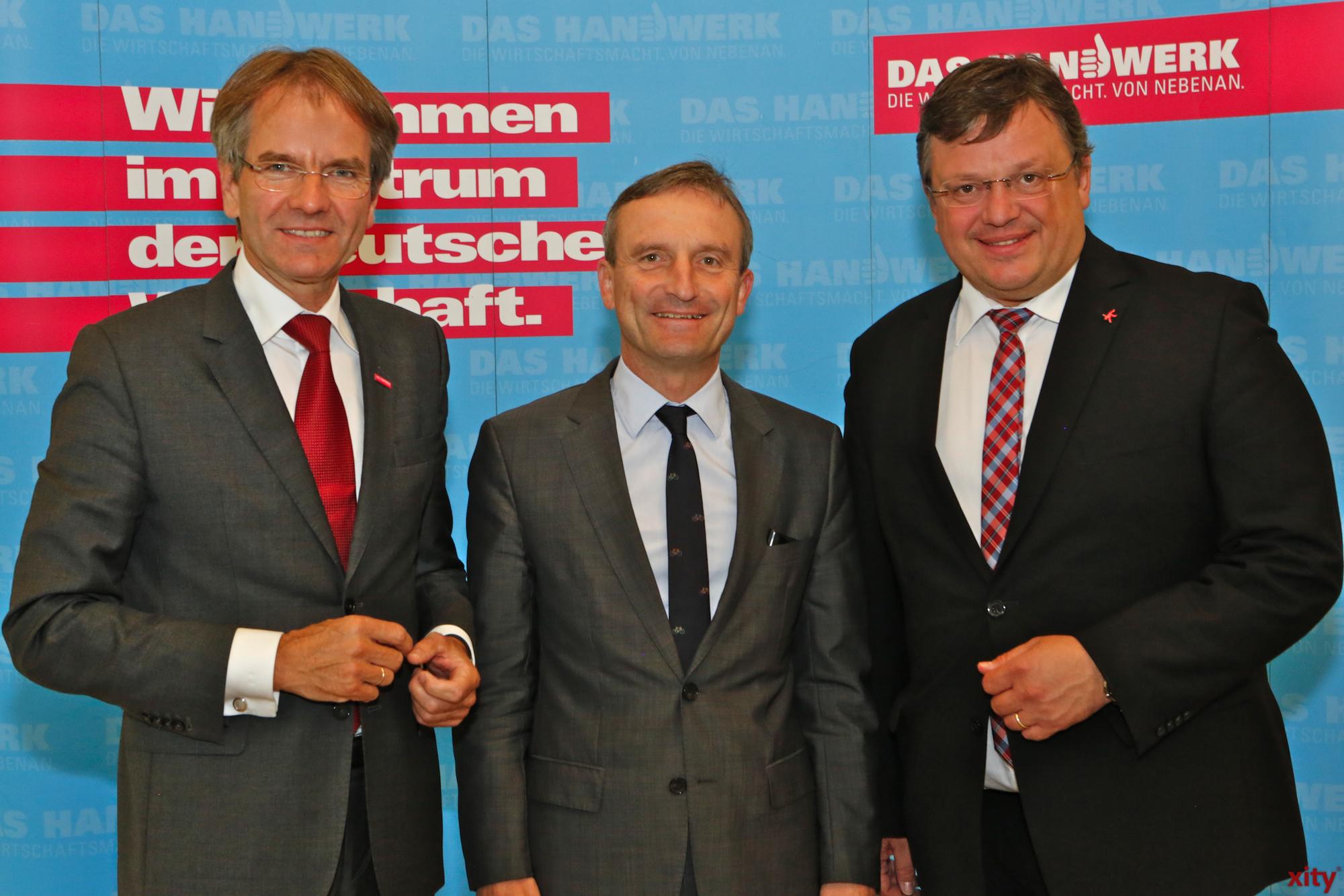 (v.l.) Andreas Ehlert, Thomas Geisel und Andreas Rimkus (Foto: xity)