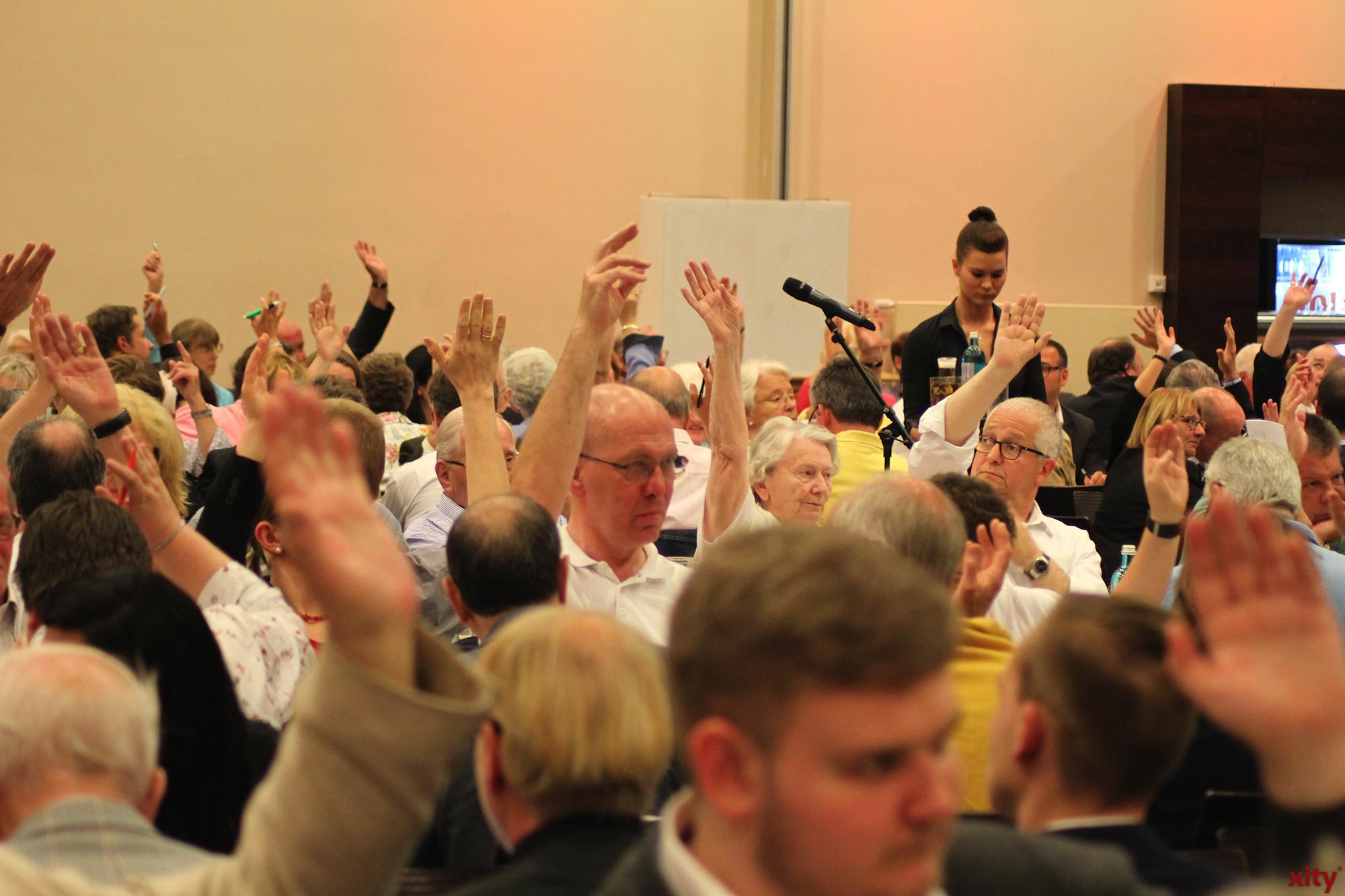 Die Vertrewterversammlung wählte die Kandidaten natürlich nicht per Handzeichen, sondern in einer geheimen Wahl (Foto: xity)
