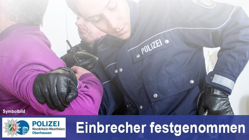 Einbrecher festgenommen (Foto: OTS)