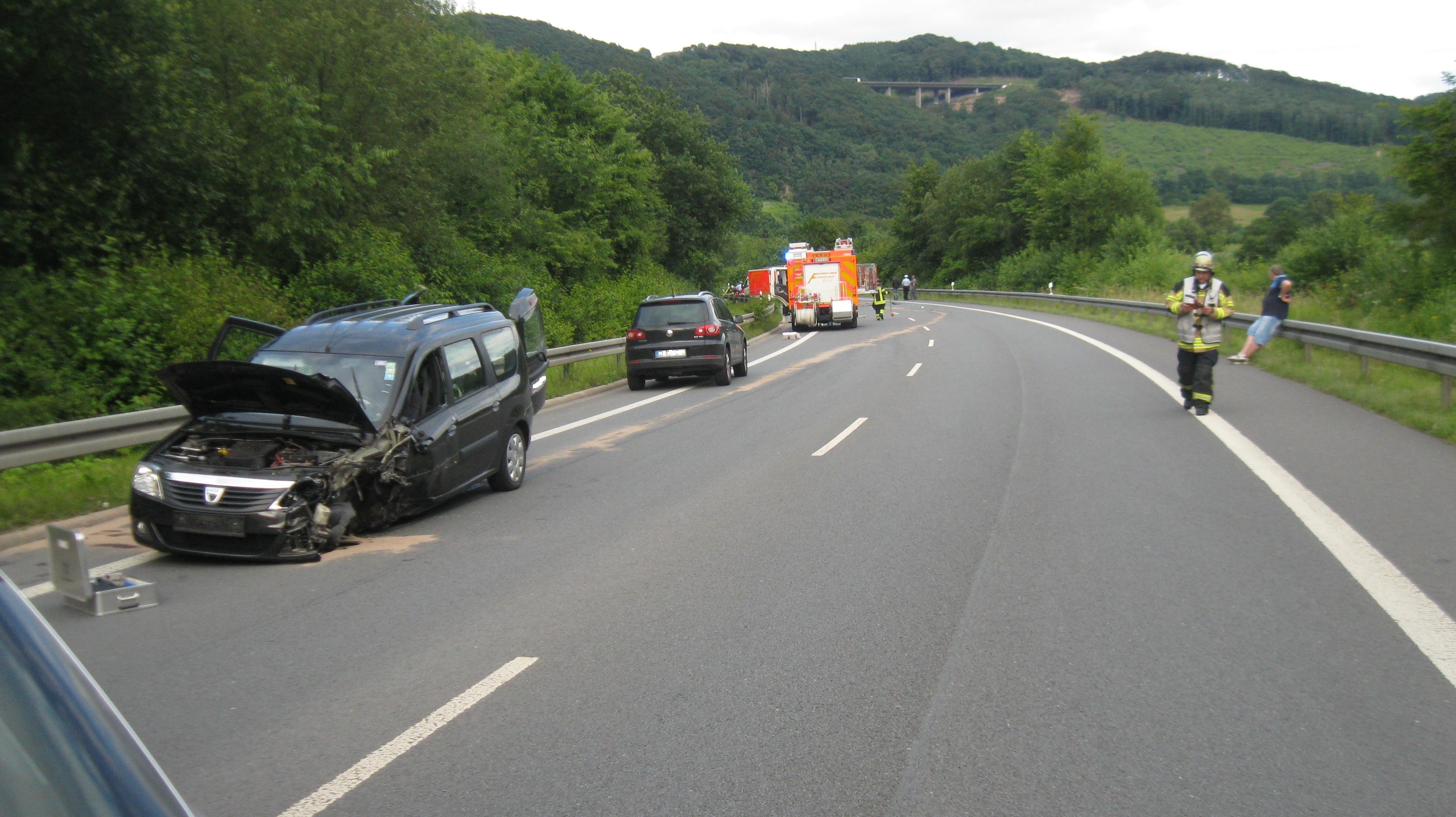 Verkehrsunfall mit vier Verletzten. (Foto: OTS)
