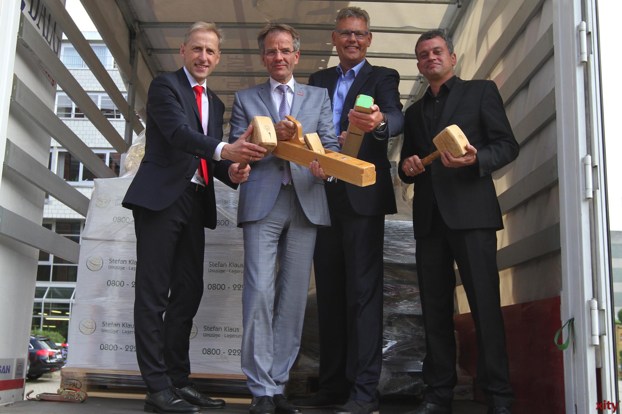 Dr. Axel Fuhrmann, Andreas Ehlert, Markus Kampling und Jan Jessen (Foto: xity)
