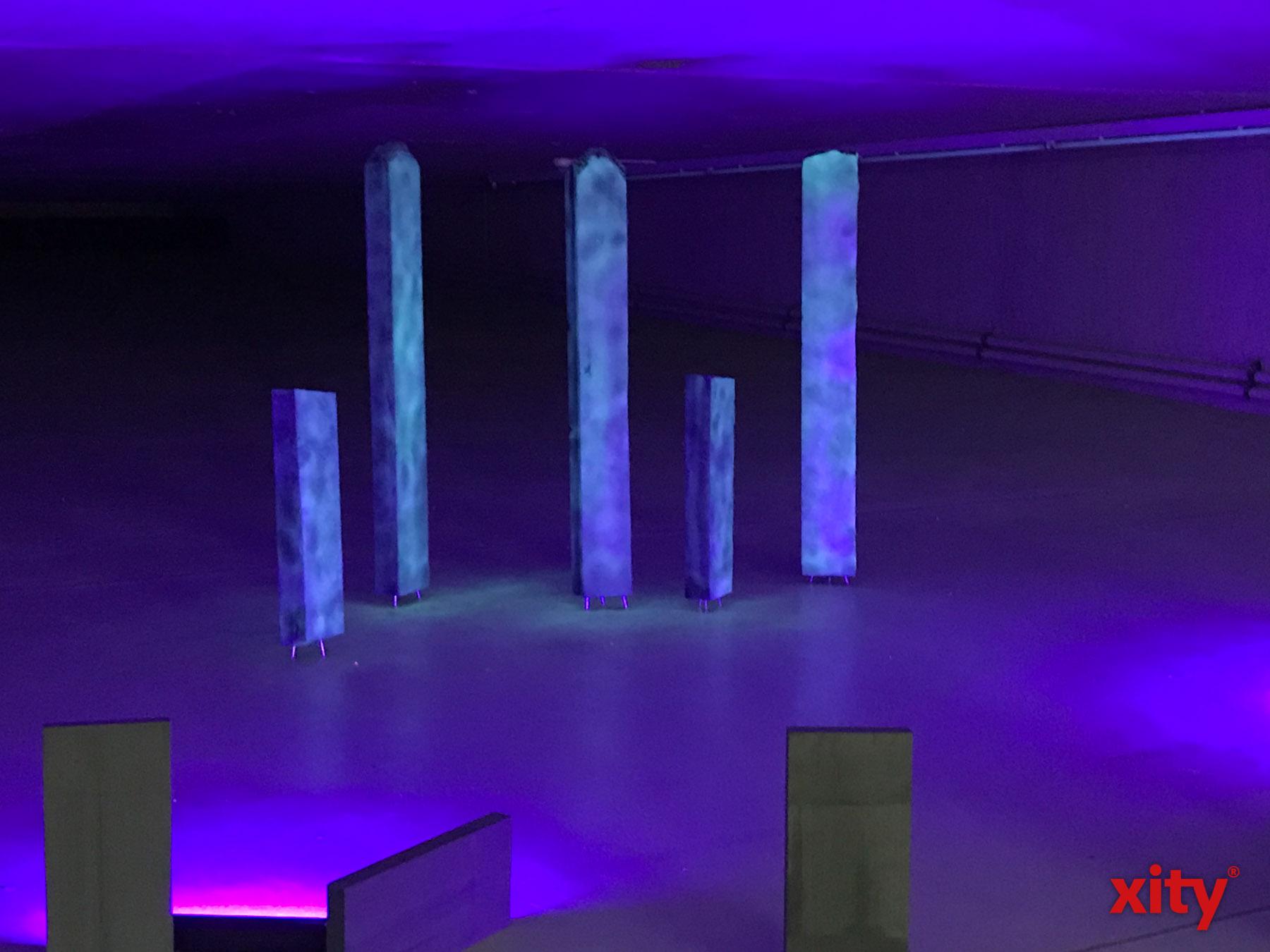 """Im Rahmen von """"Concrete Delusion"""" sollen Betonobjekte in ganz Düsseldorf illuminiert werden (Foto: xity)"""