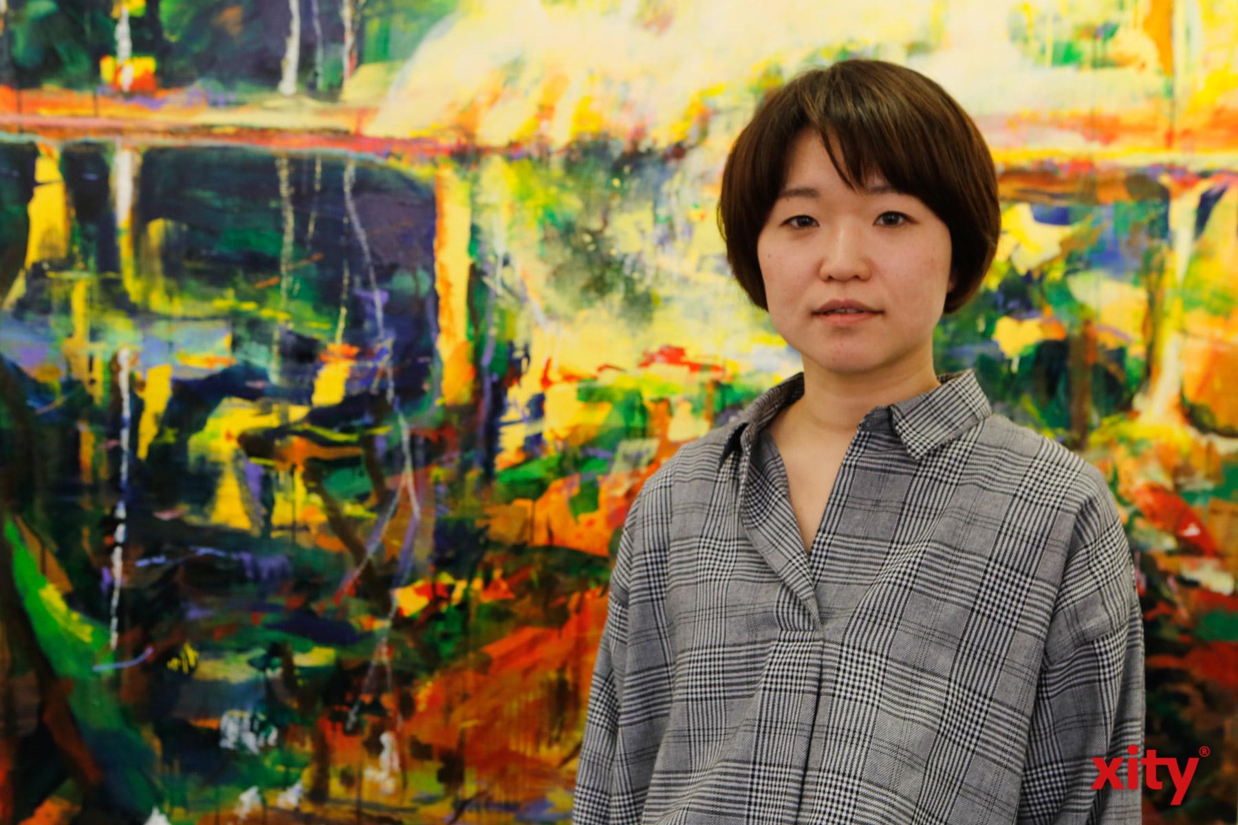 Die Künstlerin Mina Takagi arbeitet seit 2016 in ihrem eigenen Atelier in Lierenfeld (Foto: xity)