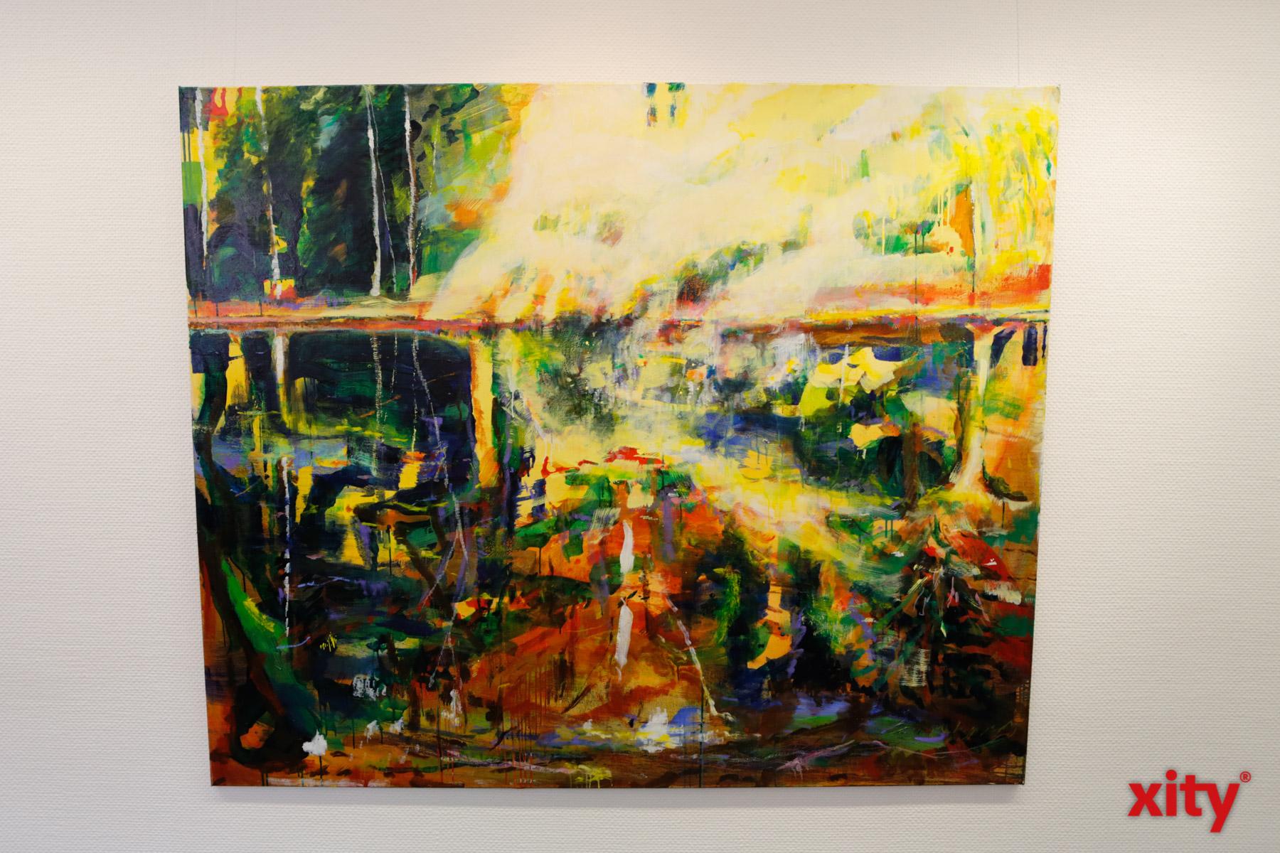 Duft der Farben, 150cm x 180cm, Öl auf Leinwand, 2019 Mina Takagi (Foto: xity)